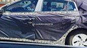 Hyundai hybrid car spied