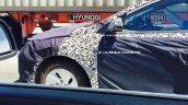 Hyundai hybrid car wheel spied