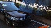 2015 Citroen C4 sedan front for China spied