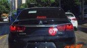 2015 Citroen C4 sedan rear view for China spied