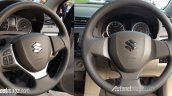 2015 Suzuki Ertiga (facelift) steering wheel comparison In Images