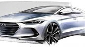 2016 Hyundai Elantra front three quarter right teaser