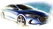 2016 Hyundai Elantra teaser blue colour