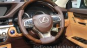 2016 Lexus ES300h steering wheel at the 2015 Gaikindo Indonesia International Motor Show (2015 GIIAS).
