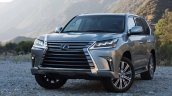 2016 Lexus LX front three quarter press image