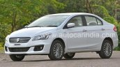 2016 Maruti Ciaz SHVS front three quarter driving impressions