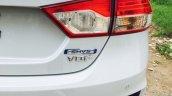 2016 Maruti Ciaz SHVS hybrid rear badging spotted in a dealership