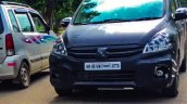 2016 Maruti Ertiga front quarter caught testing ahead of launch