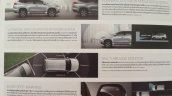 2016 Mitsubishi Pajero Sport forward collision mitigation system brochure scan