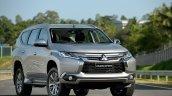 2016 Mitsubishi Pajero Sport front quarter (1) unveiled