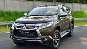 2016 Mitsubishi Pajero Sport front quarter brown static unveiled
