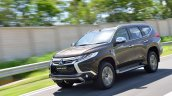 2016 Mitsubishi Pajero Sport front quarter brown unveiled