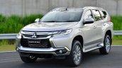 2016 Mitsubishi Pajero Sport front three quarter silver unveiled