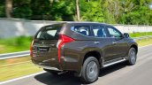 2016 Mitsubishi Pajero Sport rear quarter dynamic unveiled