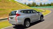 2016 Mitsubishi Pajero Sport rear quarter silver unveiled