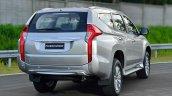 2016 Mitsubishi Pajero Sport rear quarter static silver unveiled
