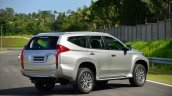 2016 Mitsubishi Pajero Sport rear three quarter static unveiled