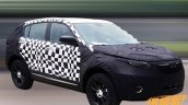 2016 Qoros SUV front three quarter spied with disguise