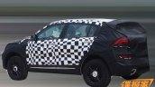 2016 Qoros SUV rear three quarter with disguise