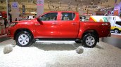 2016 Toyota Hilux Double Cab side at the 2015 Gaikindo Indonesia International Auto Show (2015 GIIAS).