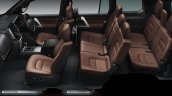 2016 Toyota Land Cruiser (facelift) cabin launched press image