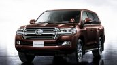 2016 Toyota Land Cruiser (facelift) front quarter launched press image
