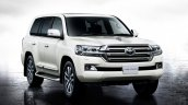 2016 Toyota Land Cruiser (facelift) front three quarter launched press image