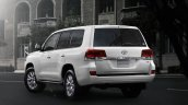 2016 Toyota Land Cruiser (facelift) rear quarter launched press image