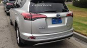 2016 Toyota RAV4 hybrid rear quarter silver spotted in Los Angeles undisguised