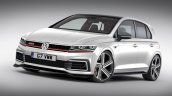 2019 VW Golf GTI front three quarter rendering