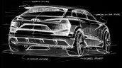 Audi e-tron Quattro concept rear sketch