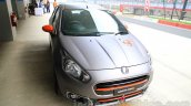 Fiat Punto Abarth grey front three quarter left for India