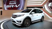 Honda BR-V white front three quarter at Gaikindo Indonesia International Auto Show 2015