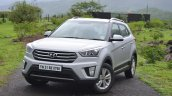 Hyundai Creta Diesel AT front quarters Review