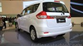 2015 Suzuki Ertiga facelift rear three quarter left view at the Gaikindo Indonesia International Auto Show 2015