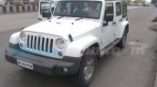 Jeep Wrangler front three quarter spied