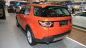 Land Rover Discovery Sport rear three quarter left at the 2015 Gaikindo Indonesia International Motor Show (2015 GIIAS)