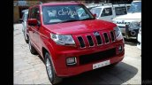 Mahindra TUV300 front three quarter spotted up close
