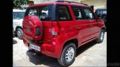 Mahindra TUV300 rear three quarter spotted up close
