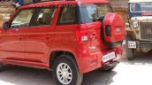 Mahindra TUV300 rear three quarter top spec variant spotted undisguised