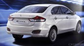 Maruti Ciaz SHVS rear three quarter brochure leaked
