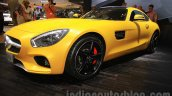Mercedes AMG GT S front three quarter left at the Gaikindo Indonesia International Auto Show 2015