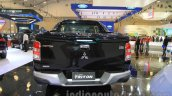 Mitsubishi Triton Exceed black rear at the Gaikindo Indonesia International Auto Show 2015 (GIIAS 2015)