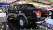 Mitsubishi Triton Exceed black rear three quarters left at the Gaikindo Indonesia International Auto Show 2015 (GIIAS 2015)