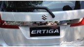 2015 Suzuki Ertiga rear chrome embellishment spied