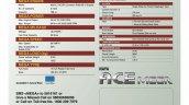 Tata Ace Mega spec sheet press image