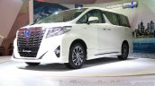 Toyota Alphard Hybrid front three quarter right at the Gaikindo Indonesia International Auto Show 2015