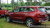 2015 Ford Endeavour rear three quarter left (Review)