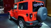 2015 Jeep Wrangler Sahara rear three quarter at the IAA 2015