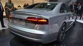 2016 Audi S8 Plus rear three quarter right taillamp bumper exhaust at IAA 2015